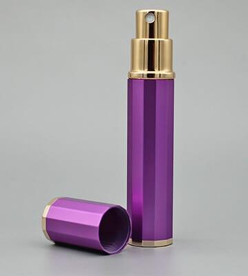 travel aluminium perfume bottle